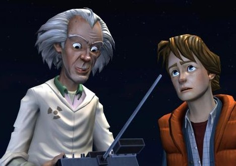 Doc e Marty em Back to the Future - The Game (iPad/PC/PSN)