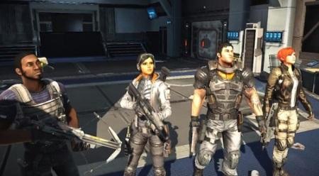 Os quatro protagonistas de Fuse (PS3/X360)