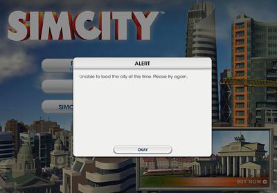 Erro em Sim City (2013)
